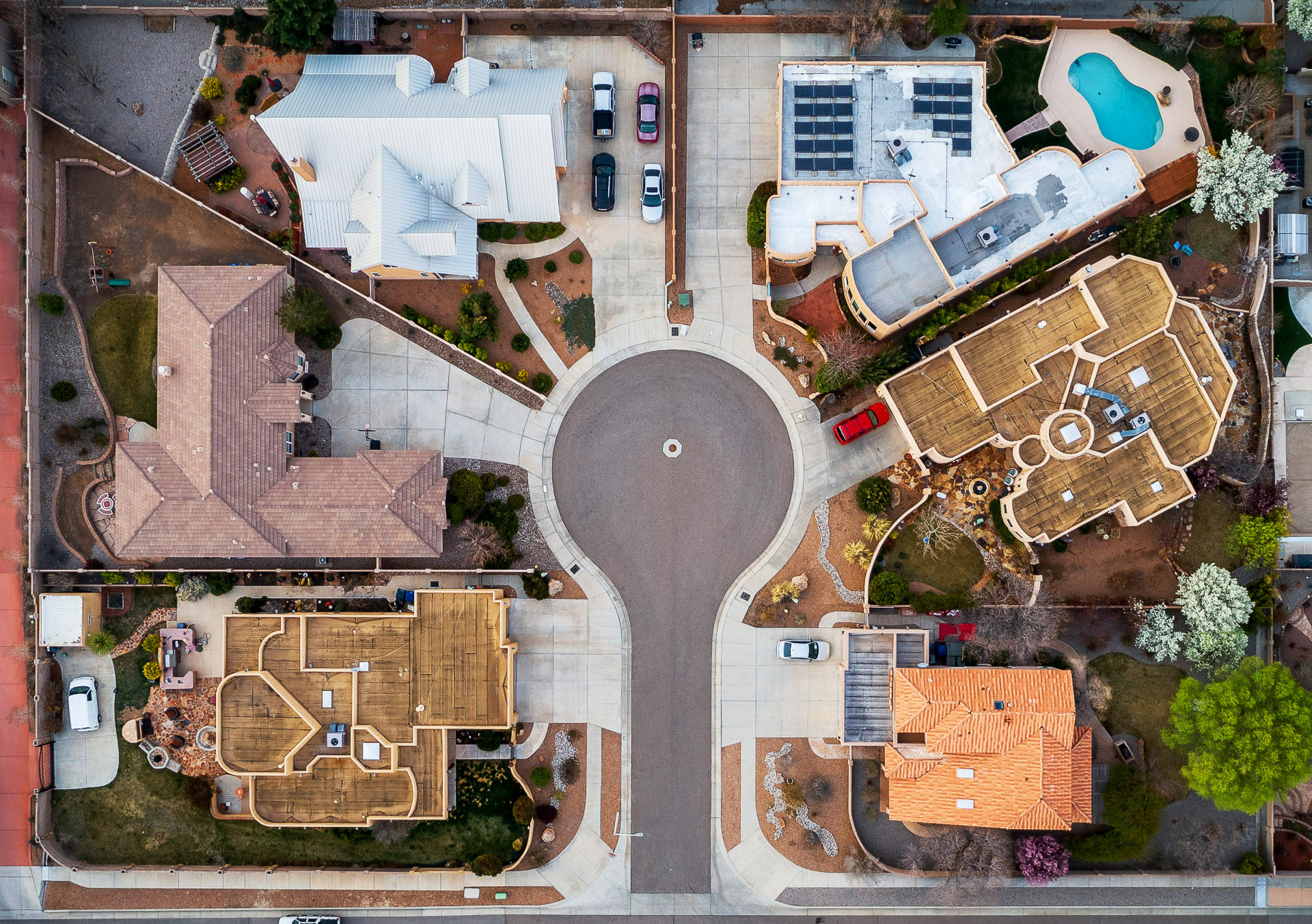 Real Estate Top Down View